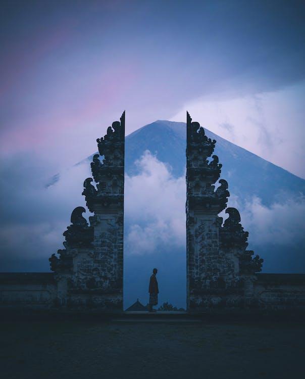 pura lempuyang ναός του μπαλί, άγαλμα, άνδρας