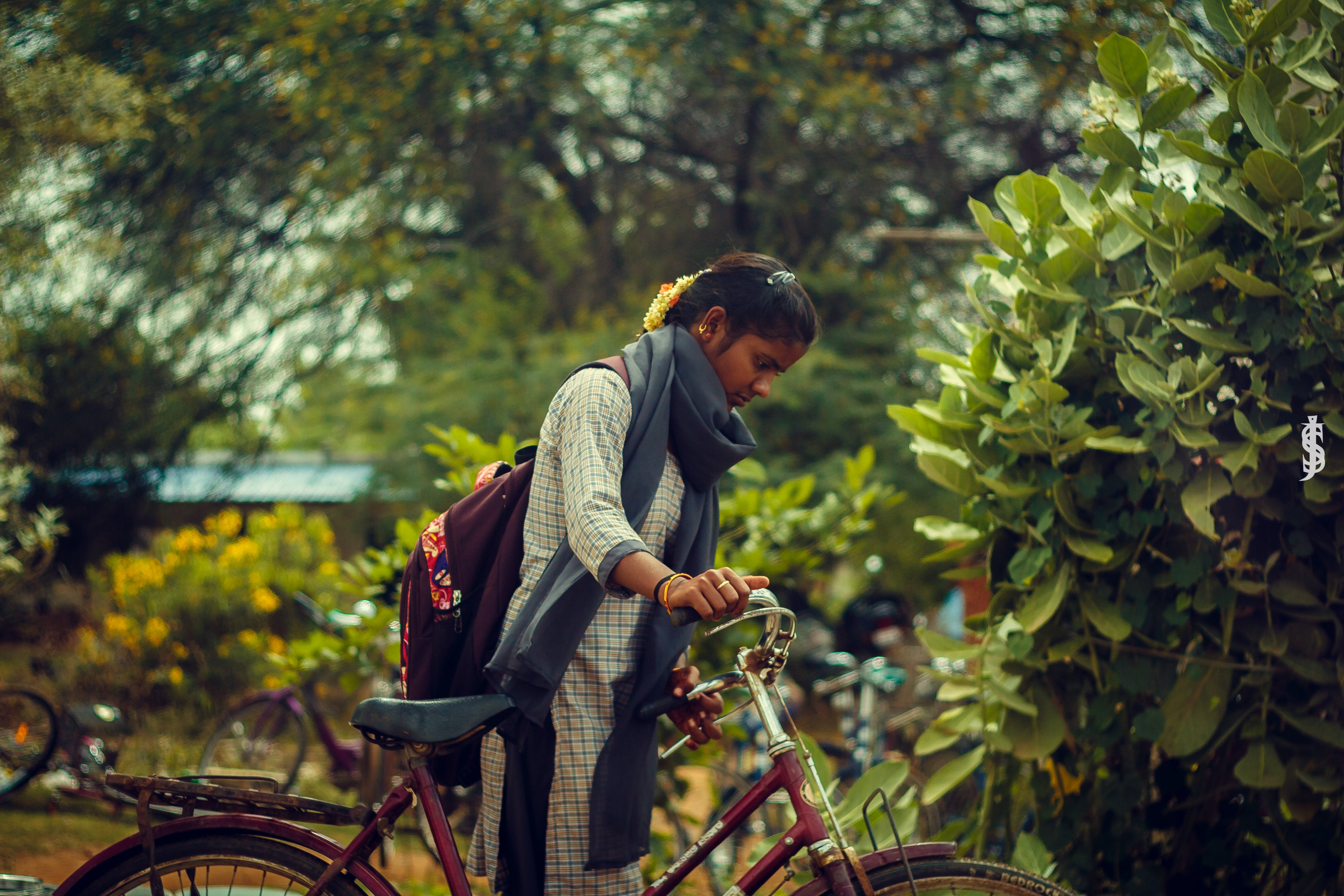 Free stock photo of after school, bicycle, college students, student