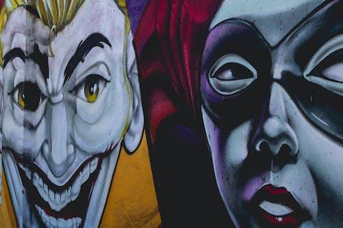 Foto profissional grátis de arte, graffiti, muro, palhaço