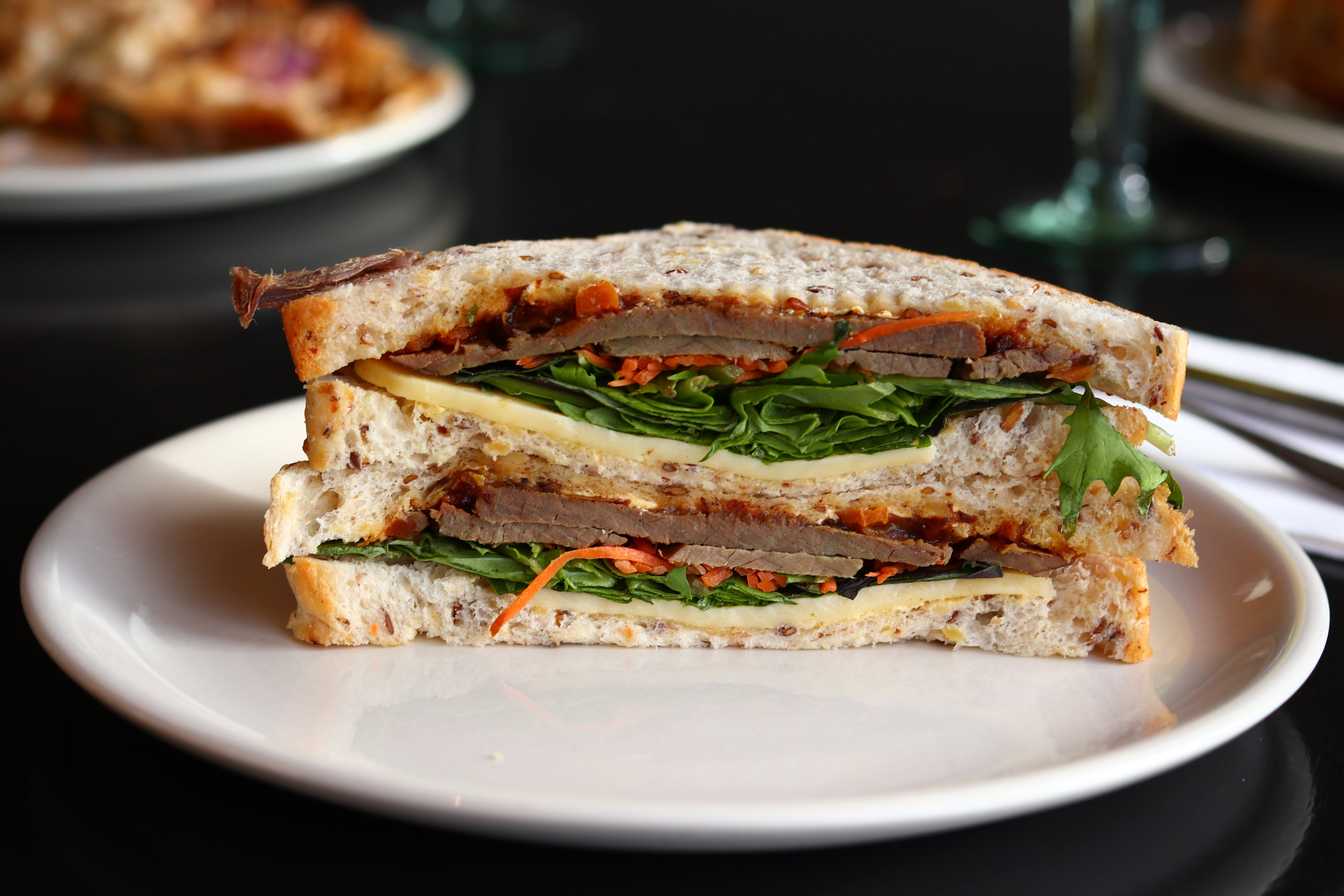 Close-Up Photo of Vegetable Sandwich on Plate