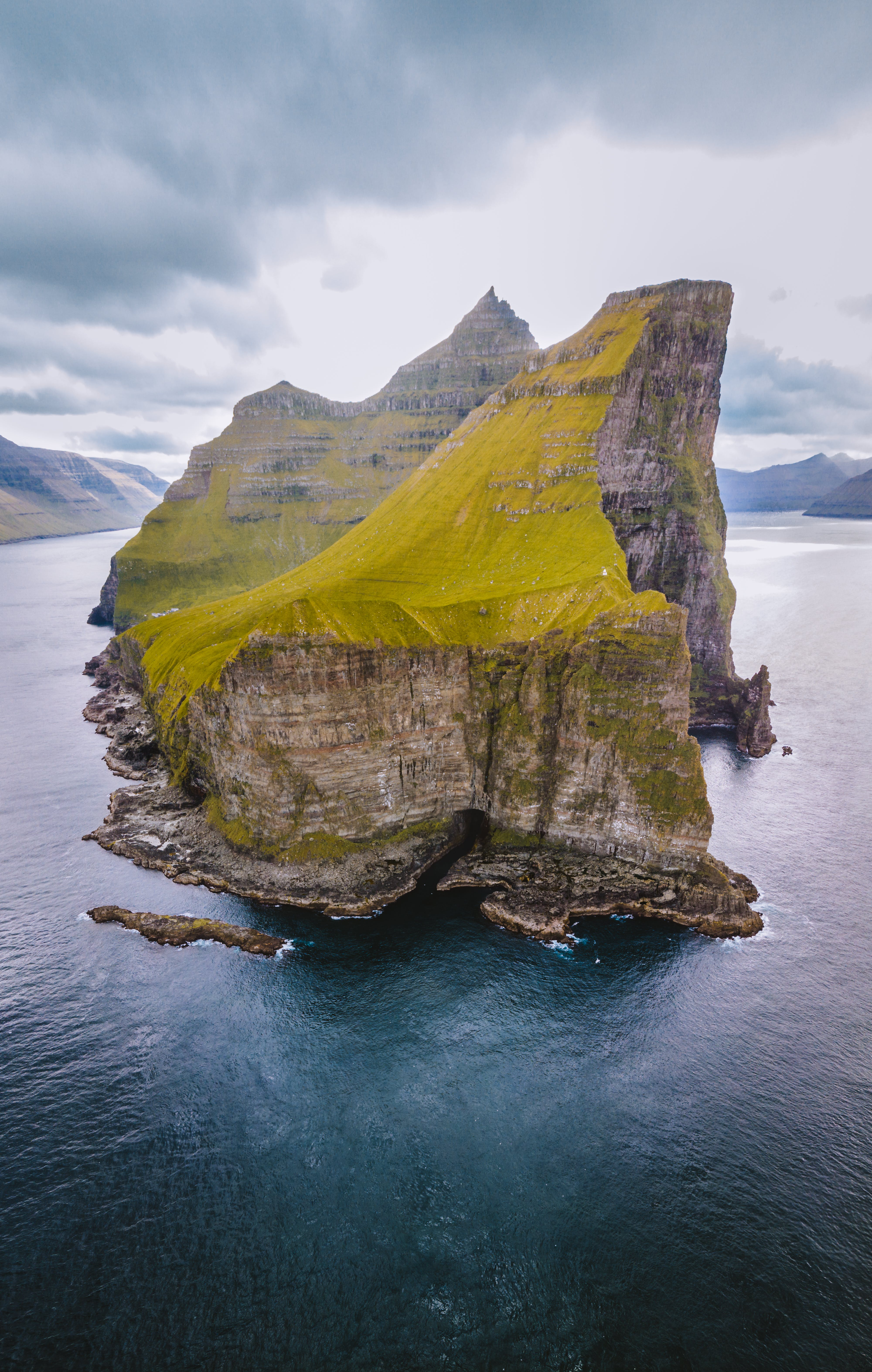Mountain Rock on Body of Water