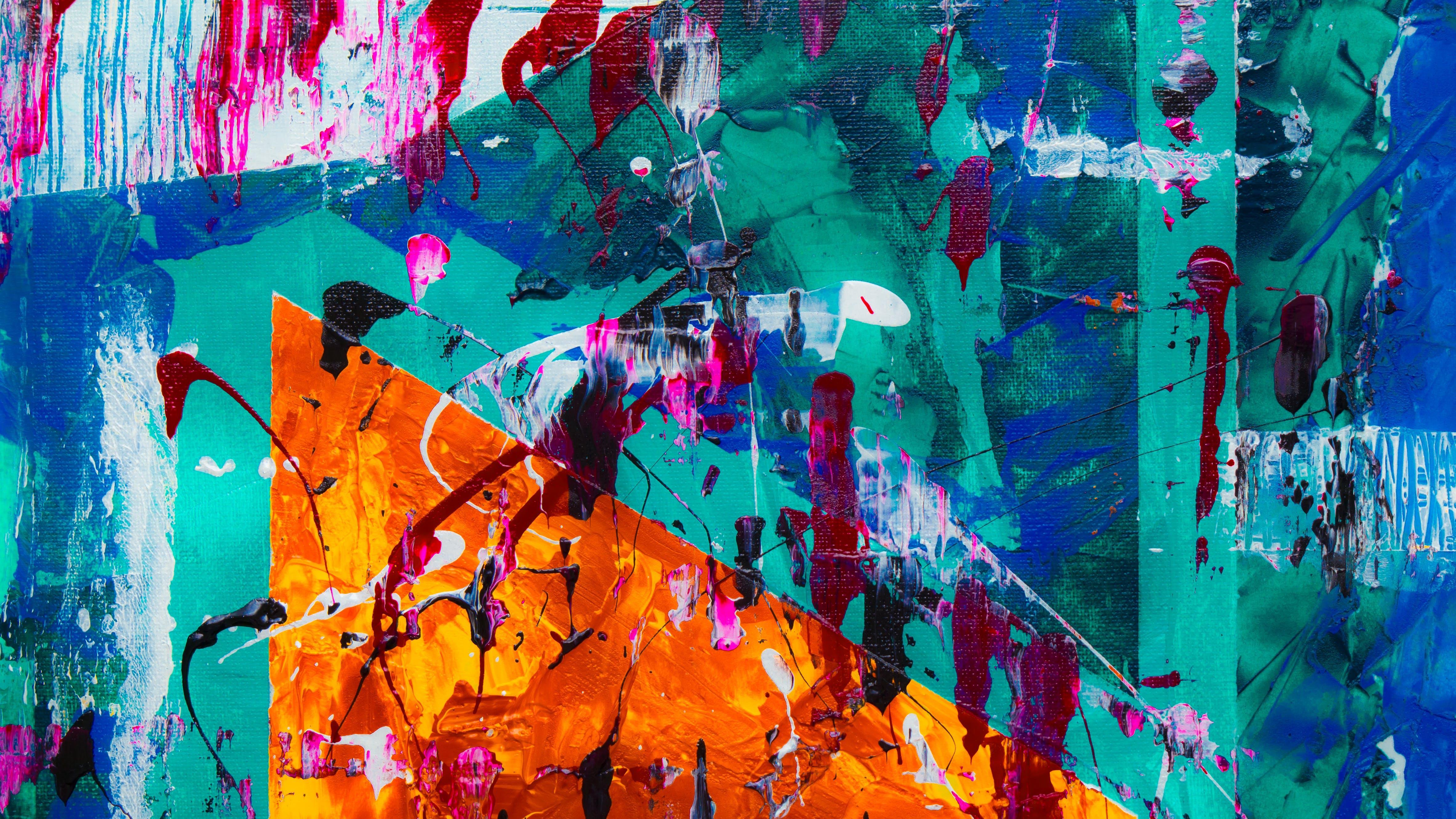 abstrakter expressionismus, abstraktes gemälde, acryl
