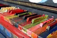 music, piano, colorful