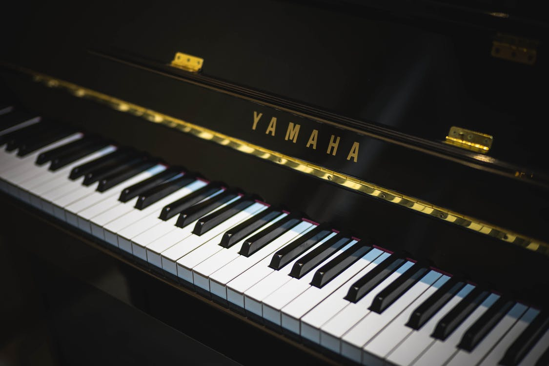 Black Yamaha Piano