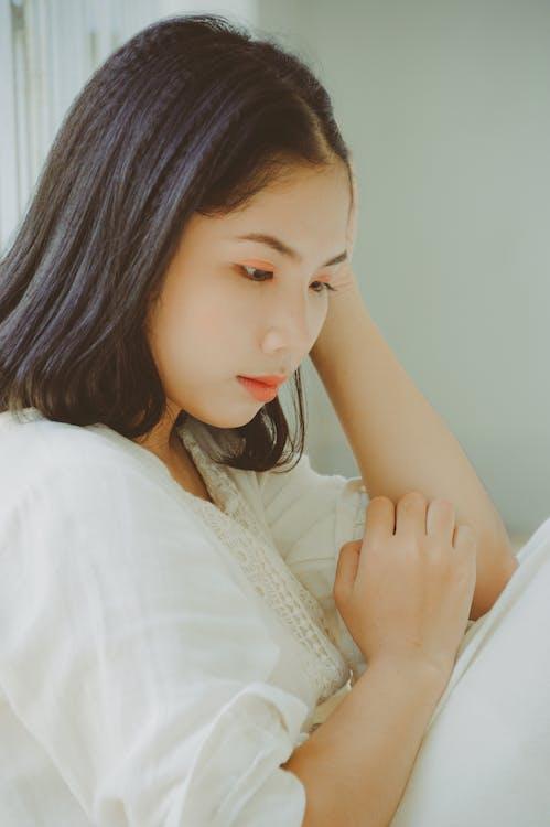 afslapning, asiatisk kvinde, Asiatisk pige