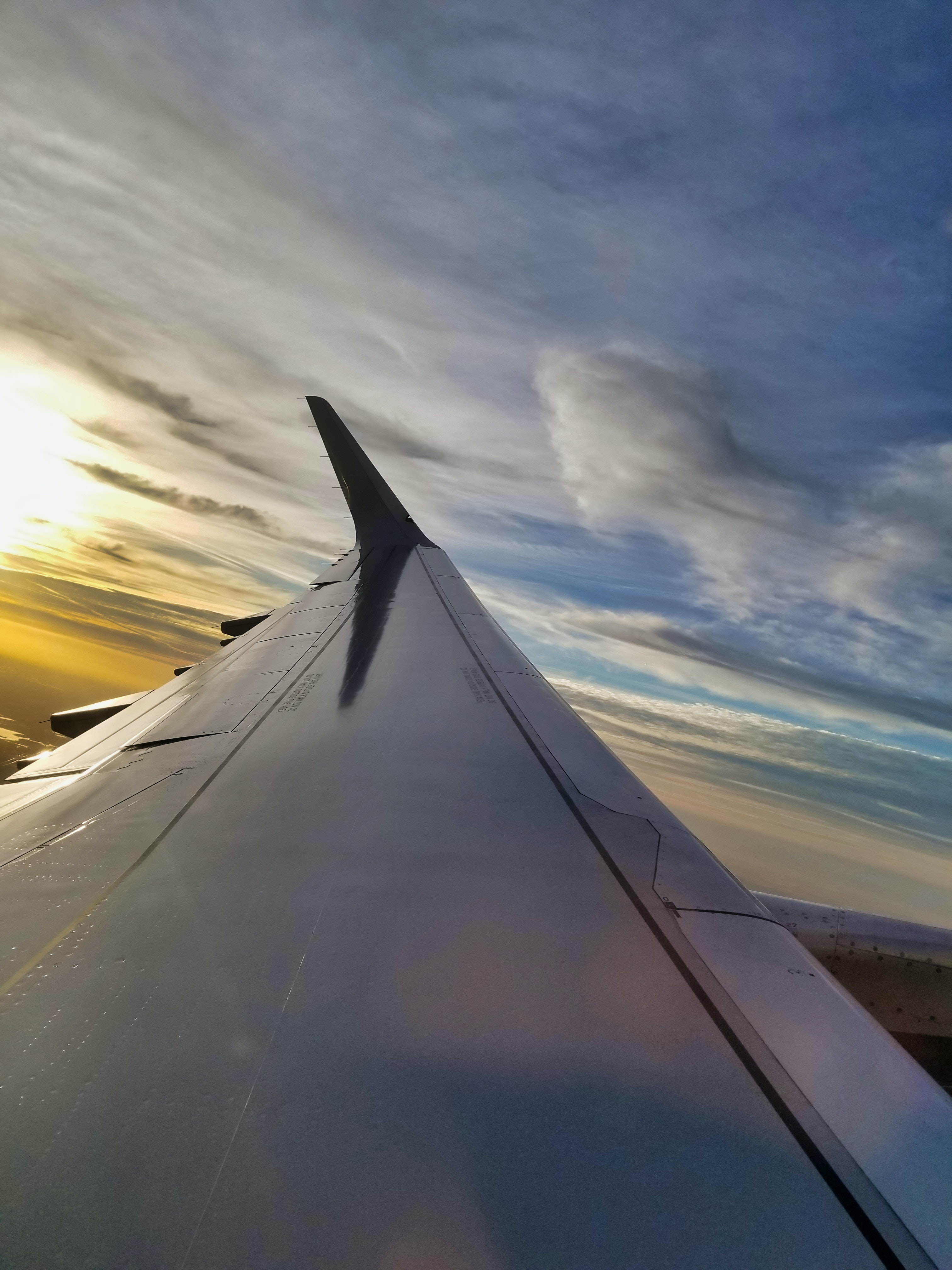 Free stock photo of aircraft, aircraft wing, inflight