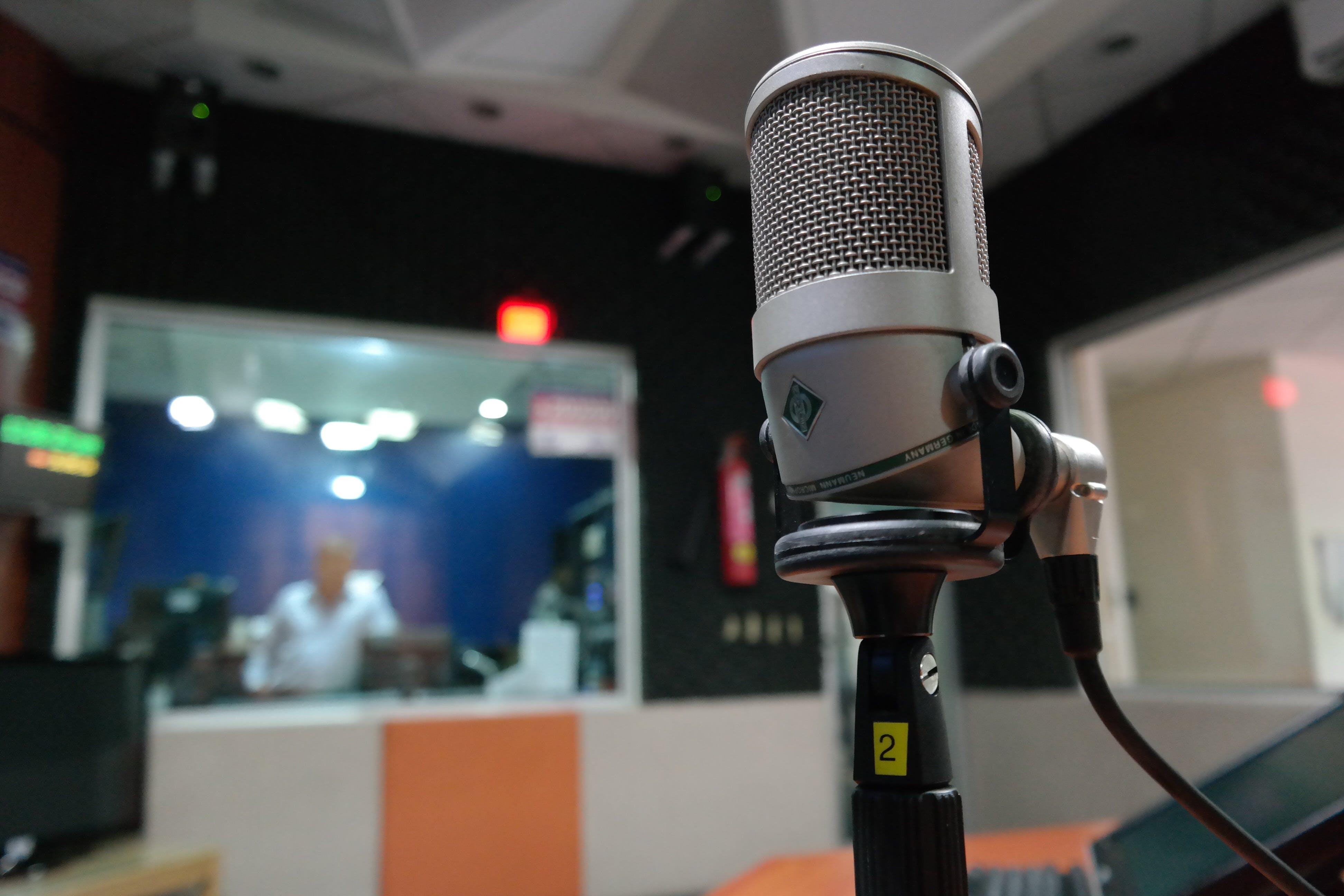 Fotobanka sbezplatnými fotkami na tému hudba, makro, mikrofón, nahrávacie štúdio