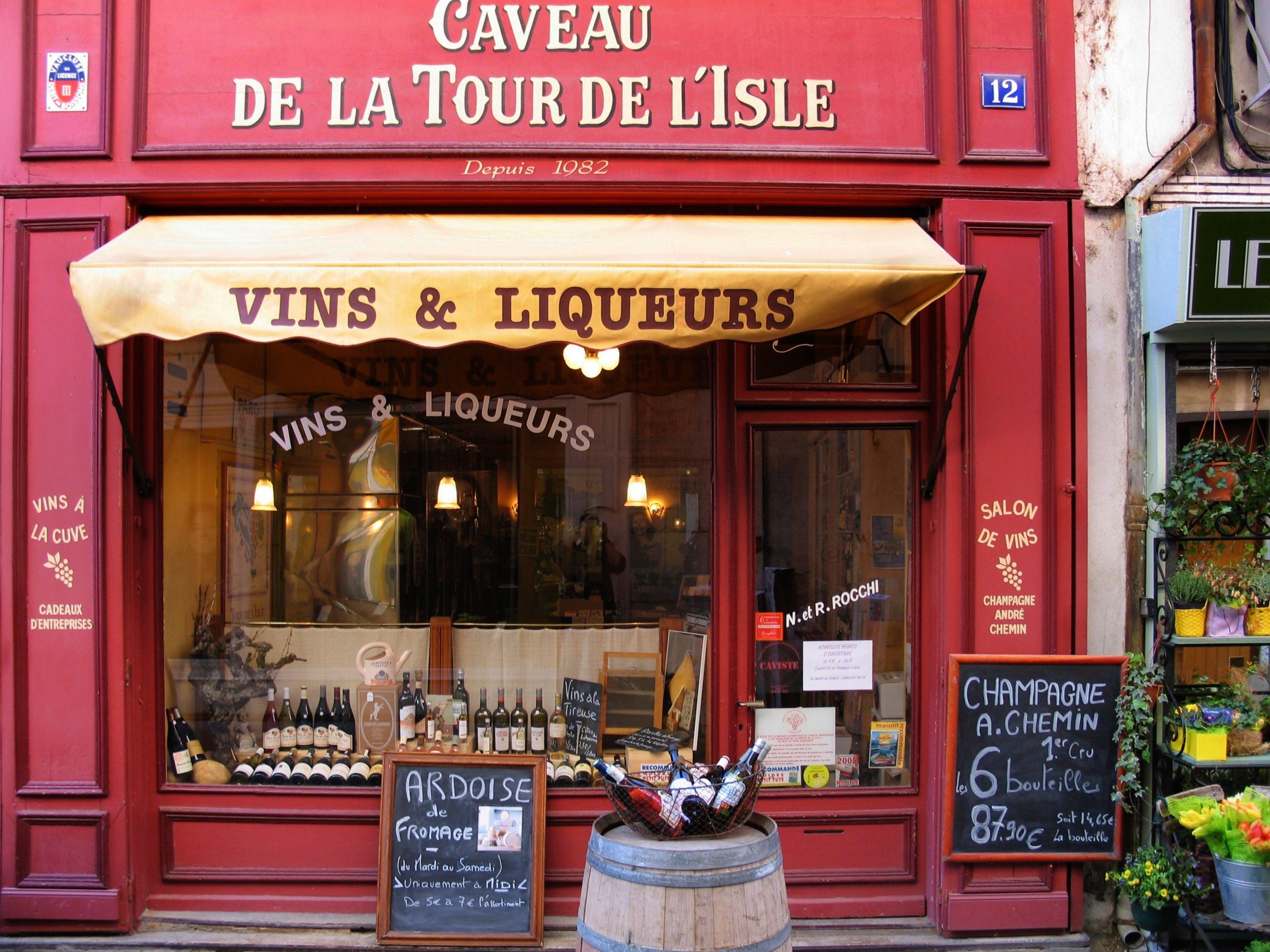 Vins & Liqueurs Store during Daytime