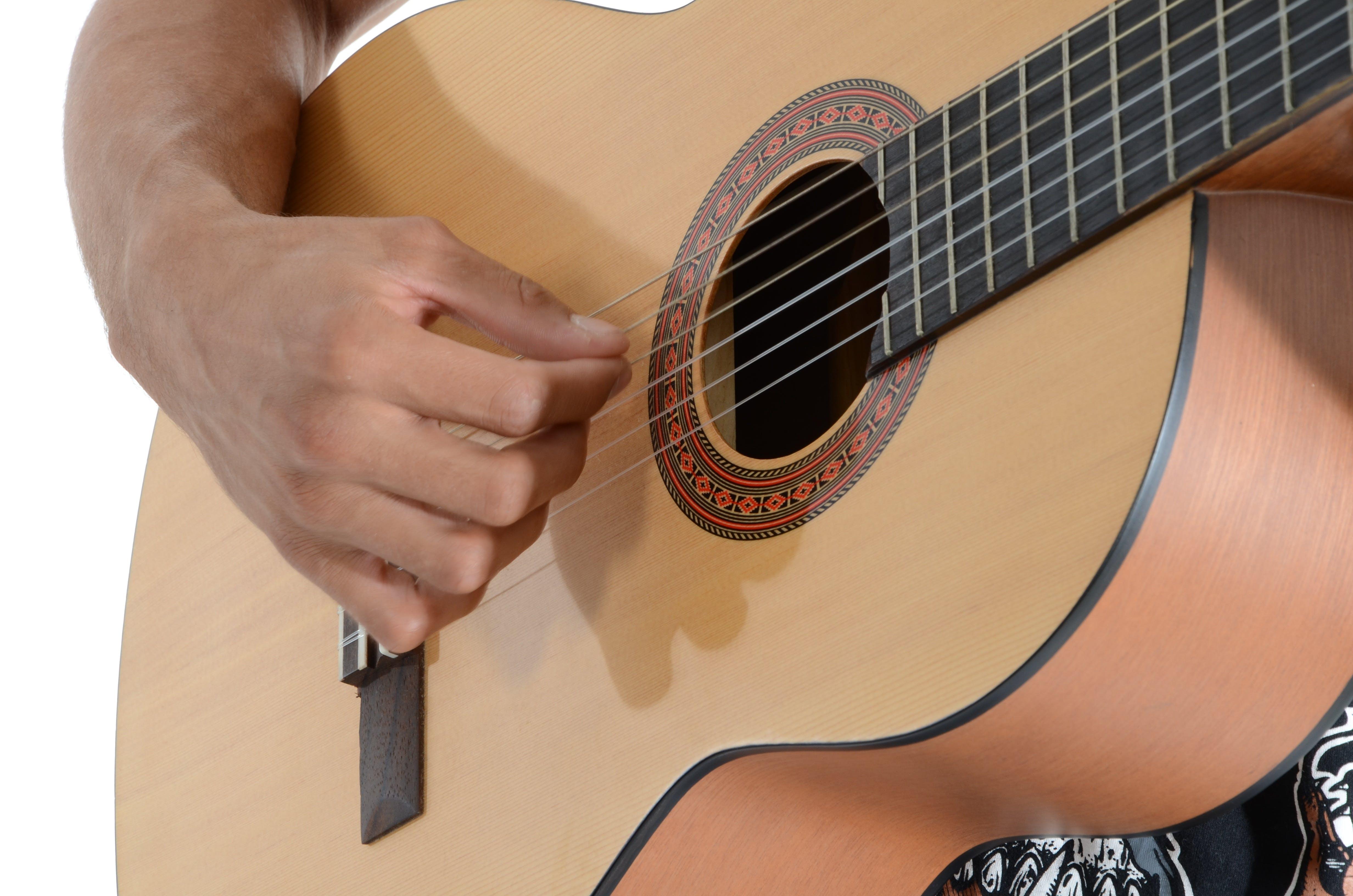 Kostenloses Stock Foto zu gitarre, hand, musik, musiker