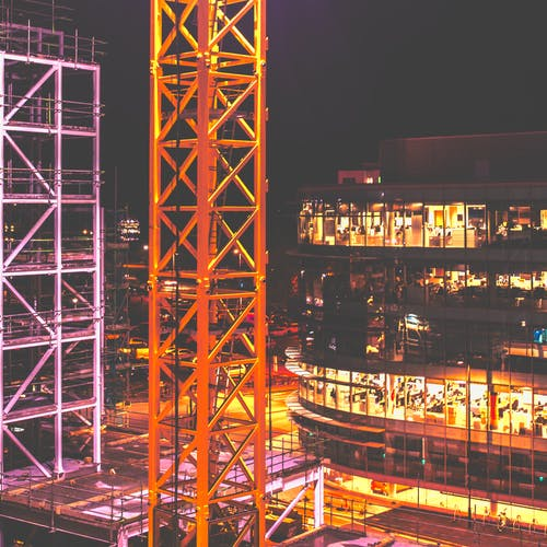 Free stock photo of birds eye view, building site, city, city center