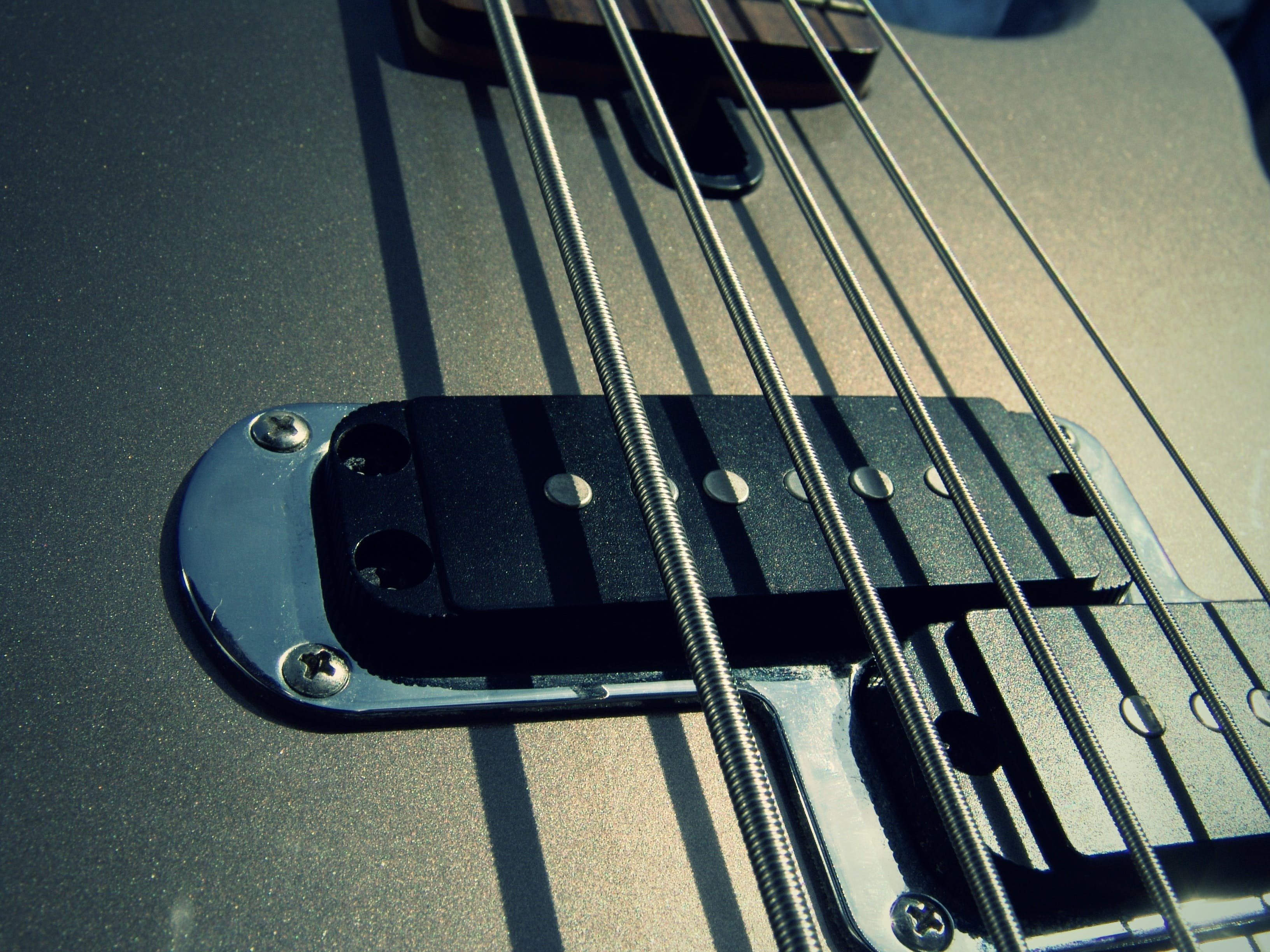 Kostenloses Stock Foto zu musikinstrument, saiteninstrument, gitarre, nahansicht
