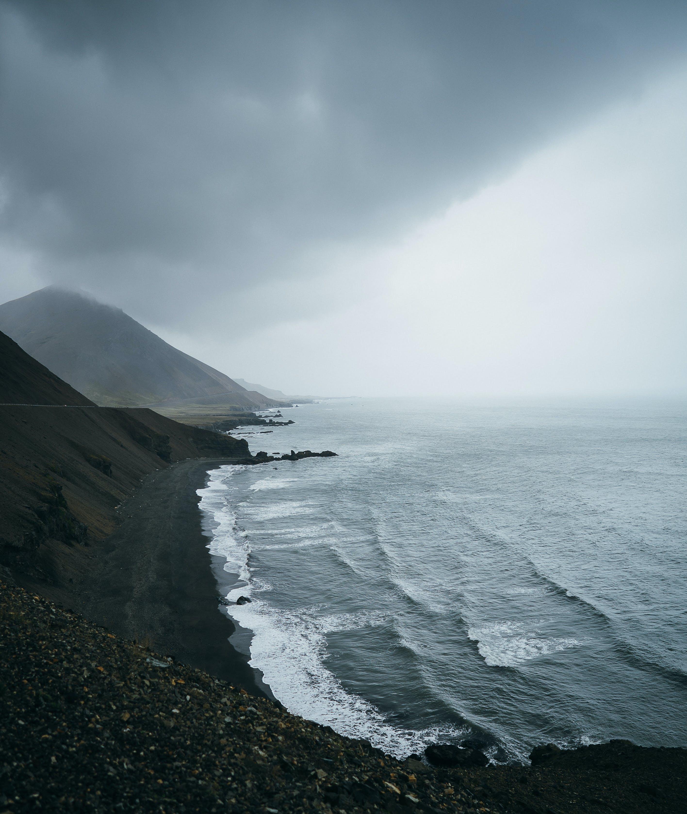 Mountains Near Ocean
