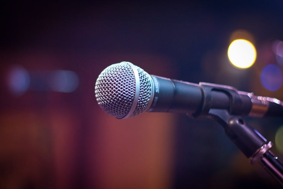 Black and Gray Microphone