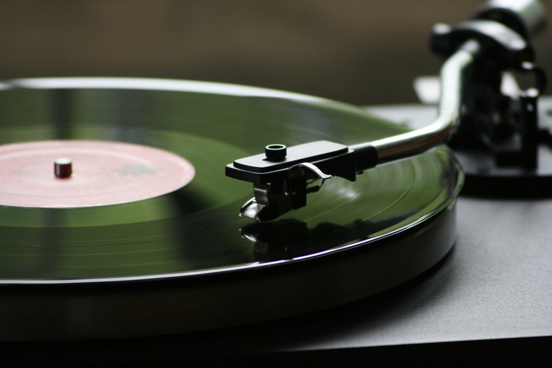 vinyl record player playing