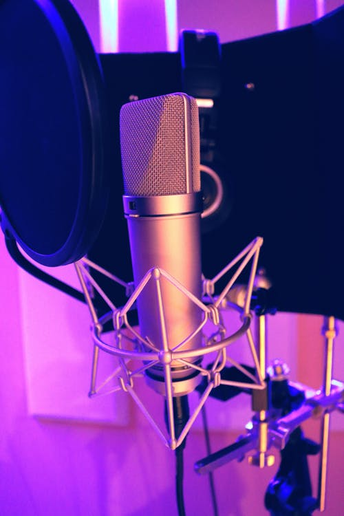 Silver Recording Microphone