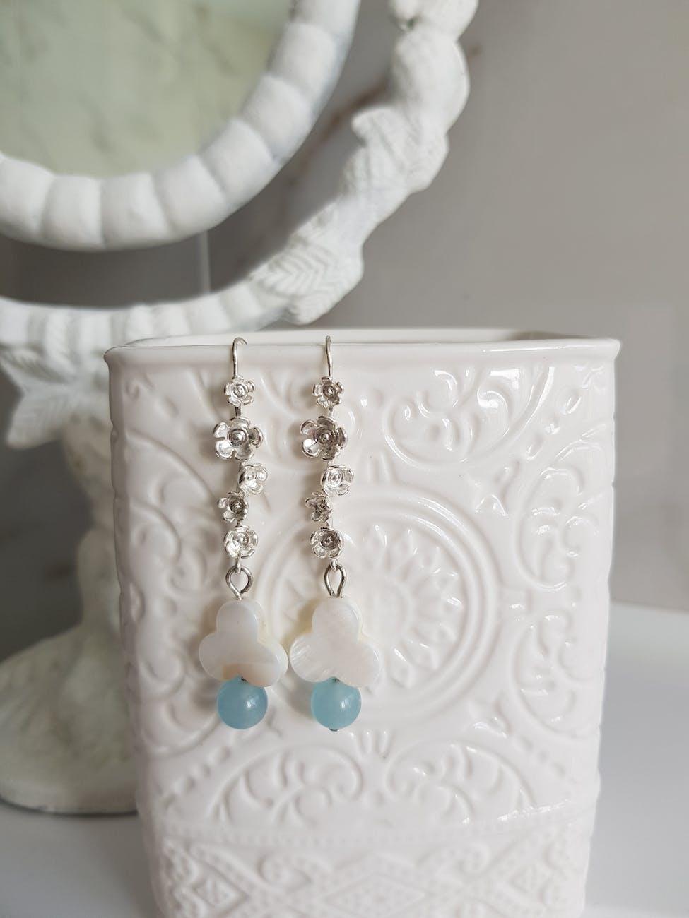 Floral Patterned Earrings