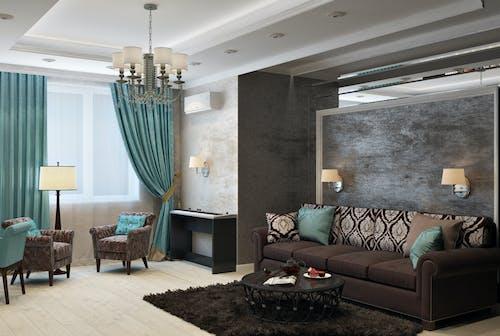 Безкоштовне стокове фото на тему «інтер'єр, диванна подушка, дизайн, кімната»