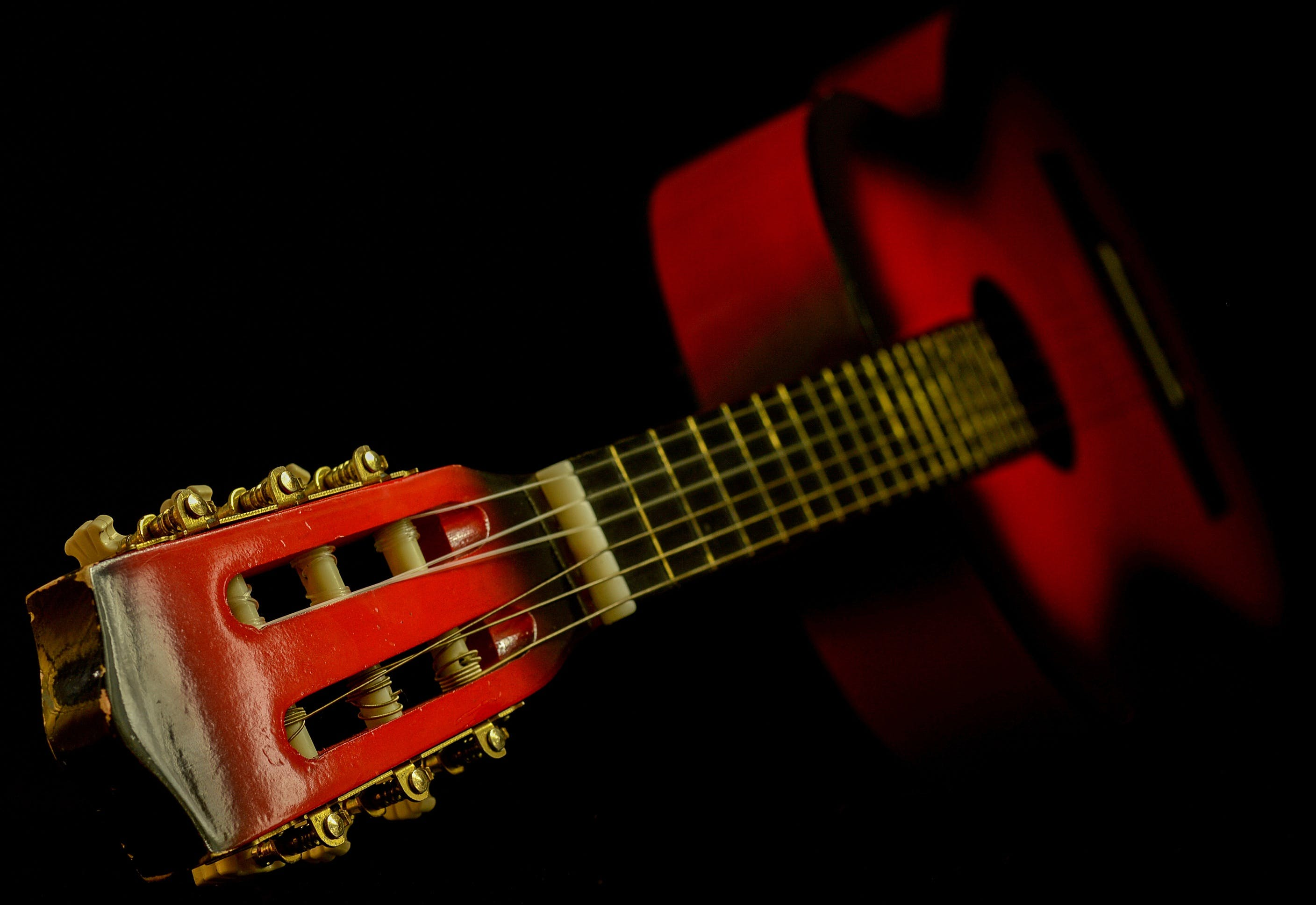 Black and Red Classic Guitar