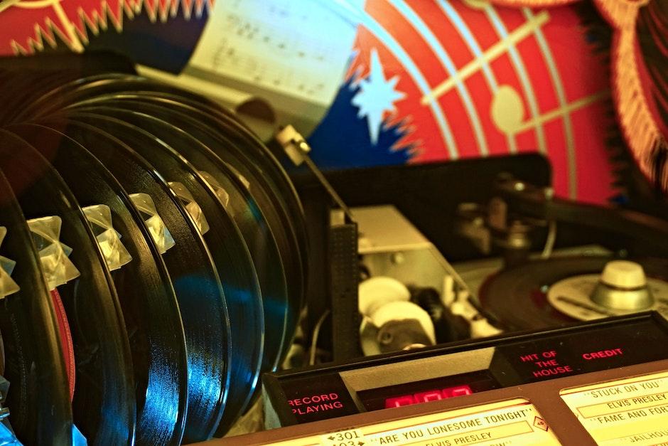 Vinyl Albums Near Player
