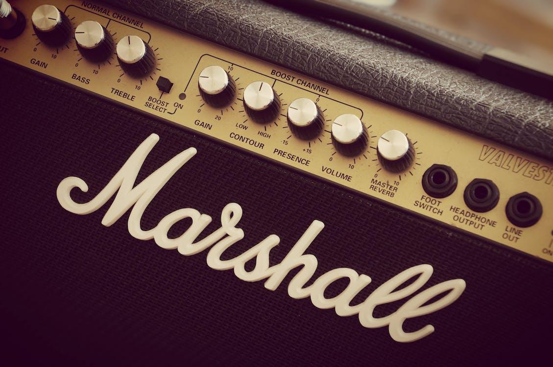 amp, dźwięk, gałka