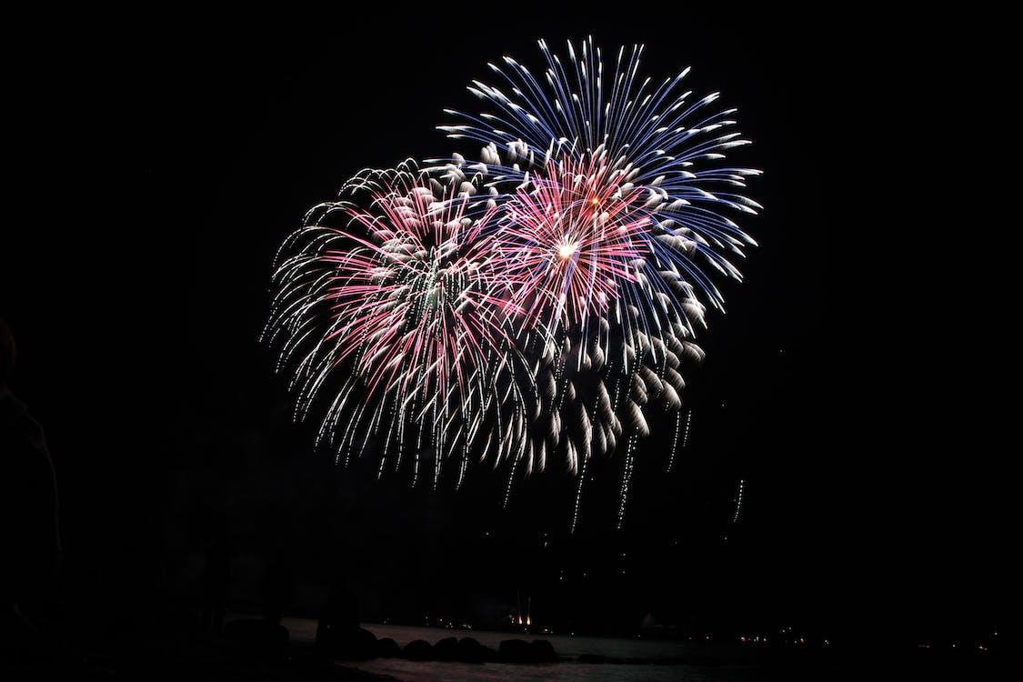 Fireworks Display On Sky