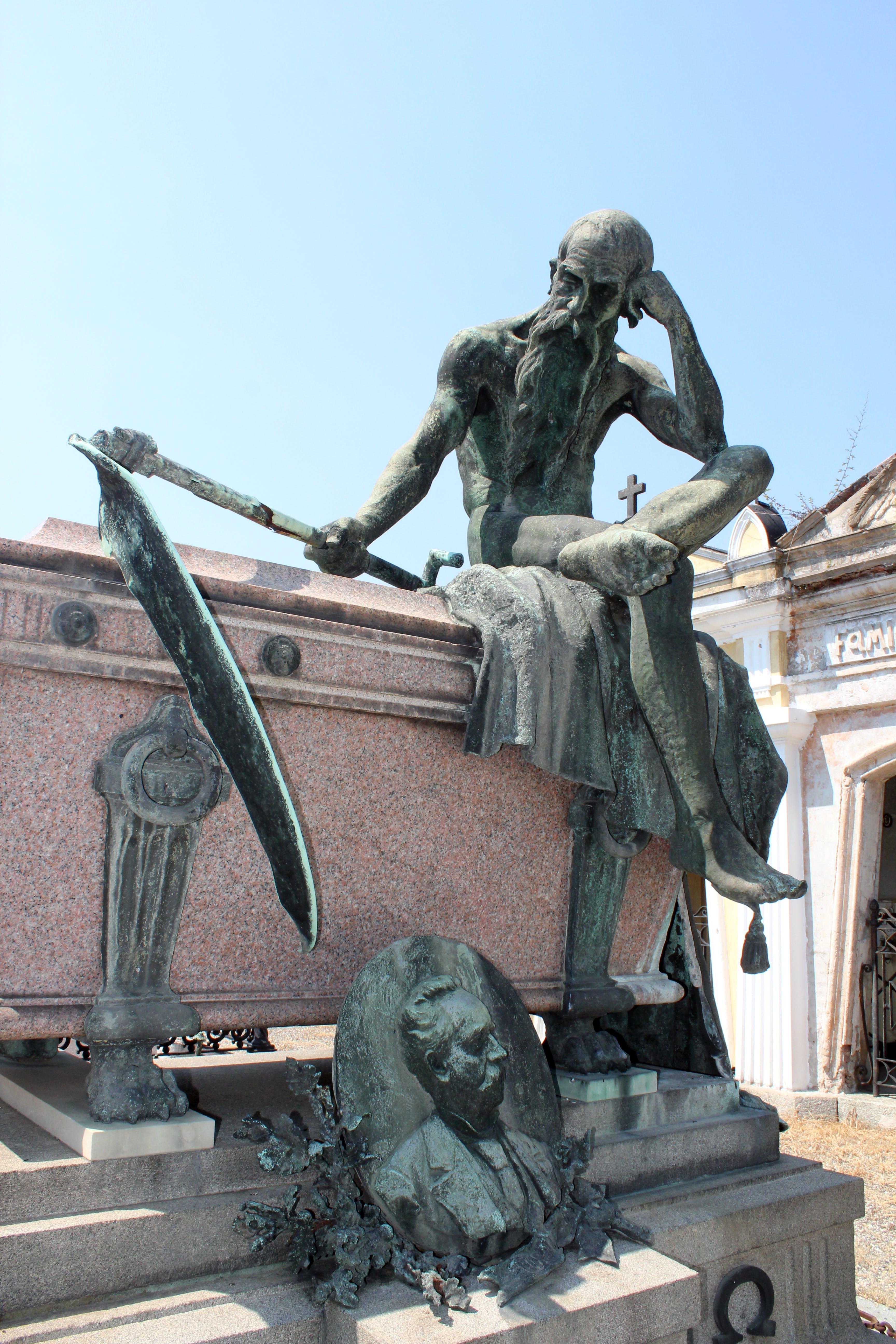 of cemetery, statue