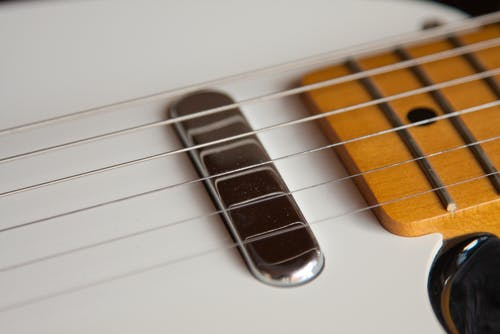 Безкоштовне стокове фото на тему «Chrome, інструмент, великий план, гітара»
