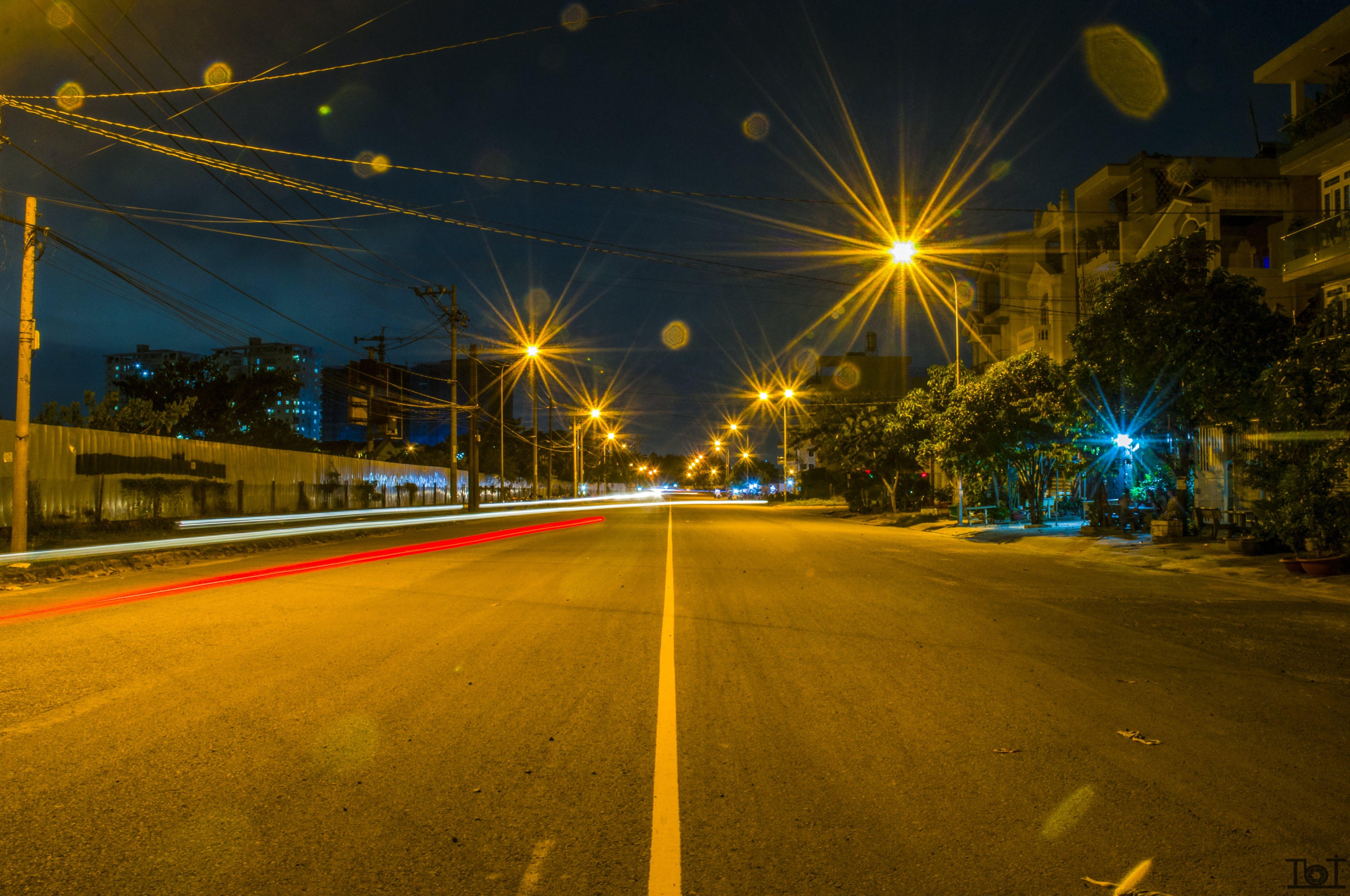 Free stock photo of landscape, light, path, street