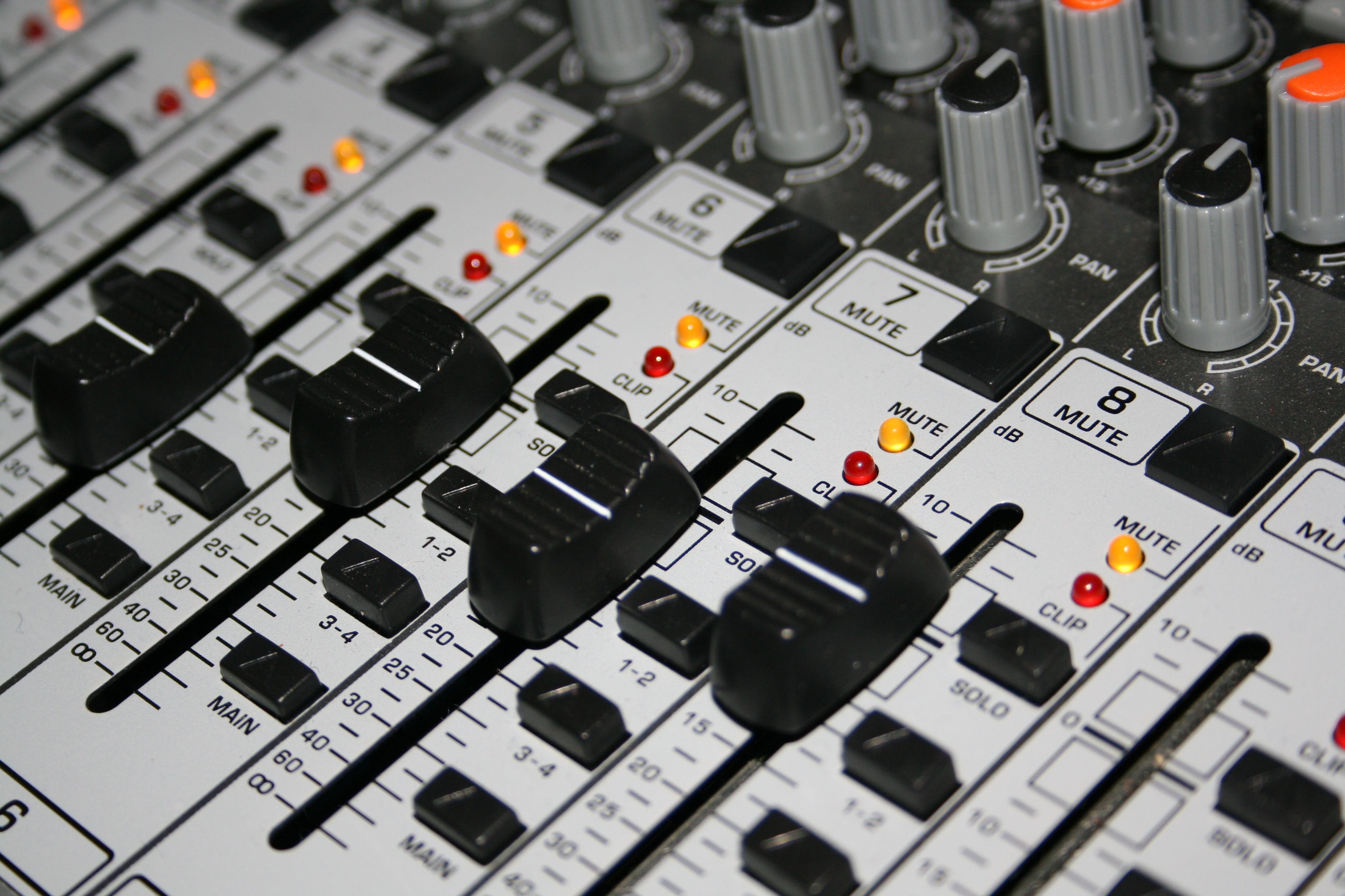 Closeup Shot of Music Mixer