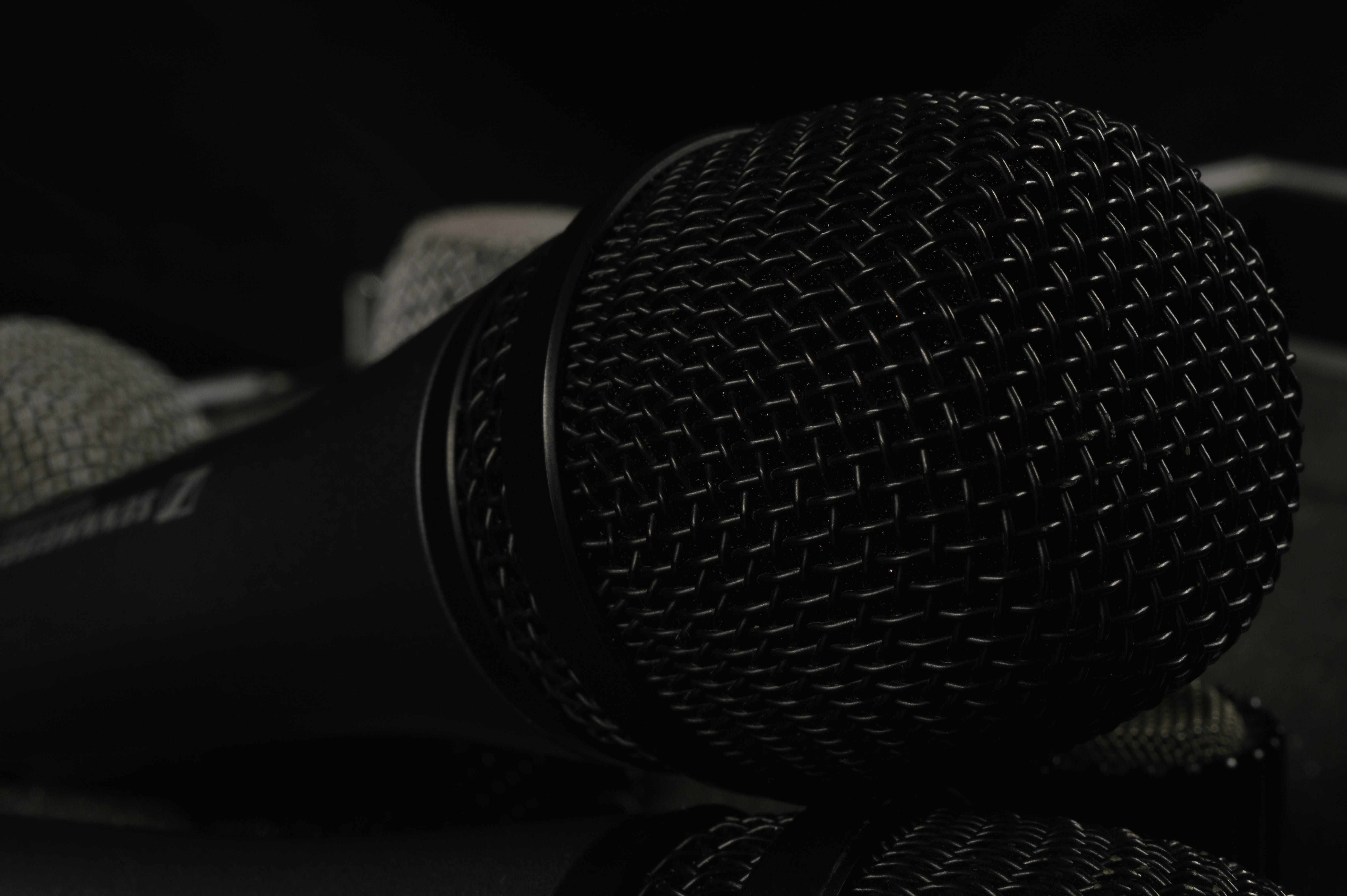 Close Up Photo of Black Microphone