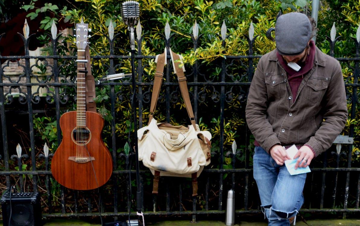 draußen, entertainment, gitarre