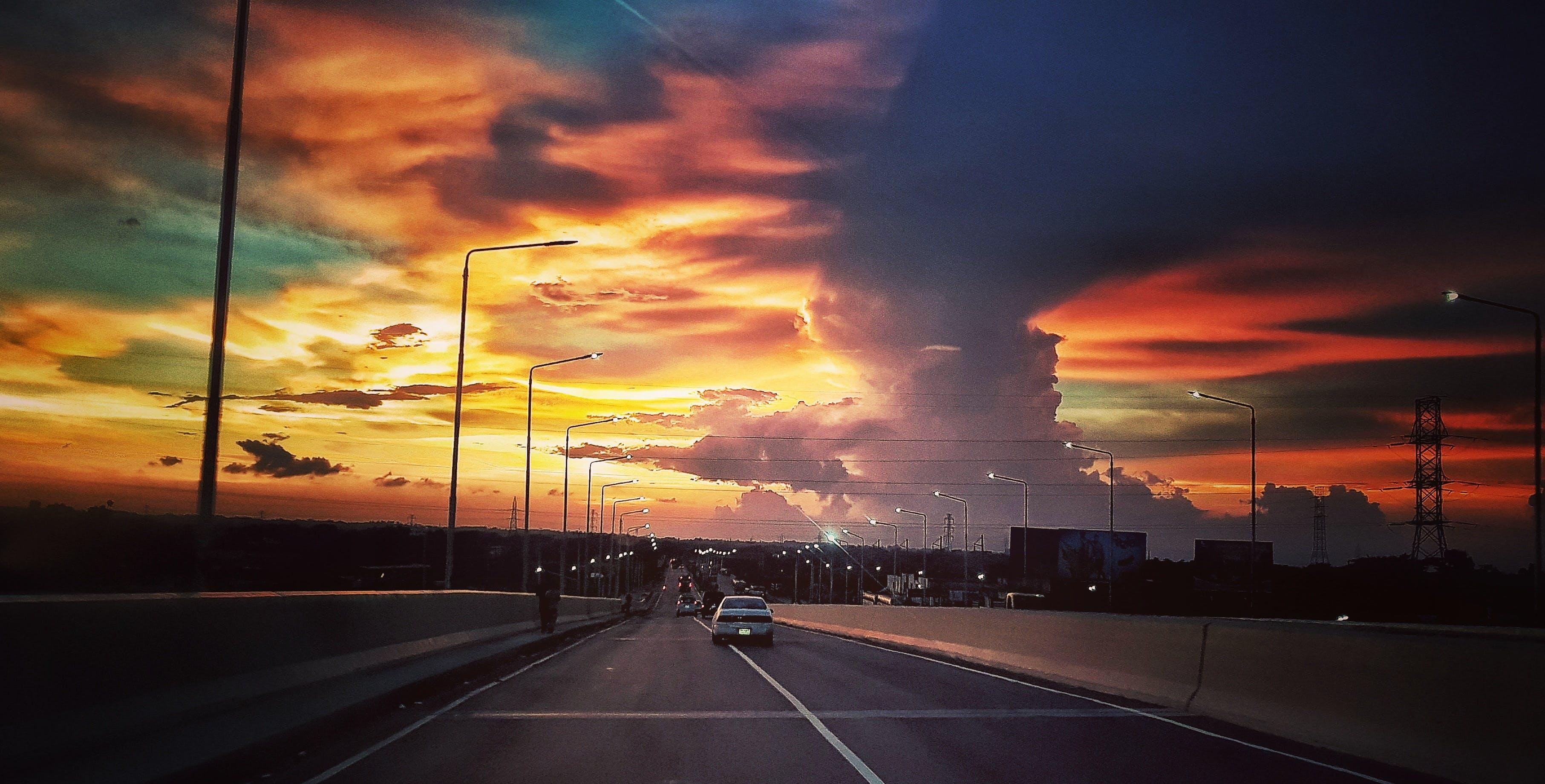 Free stock photo of highway, street, twilight