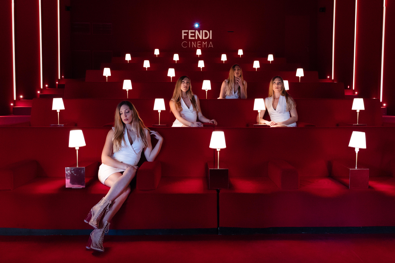Four Women Sitting Inside Fendi Cinema