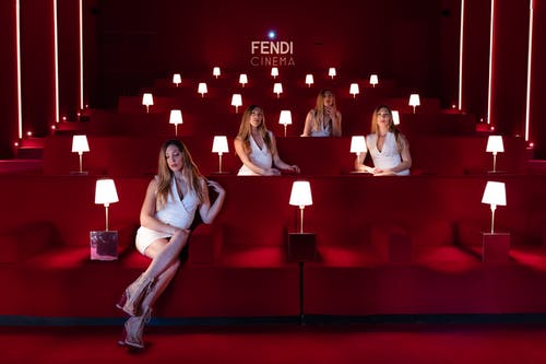 Four Women Sitting Inside Fendi Cinema
