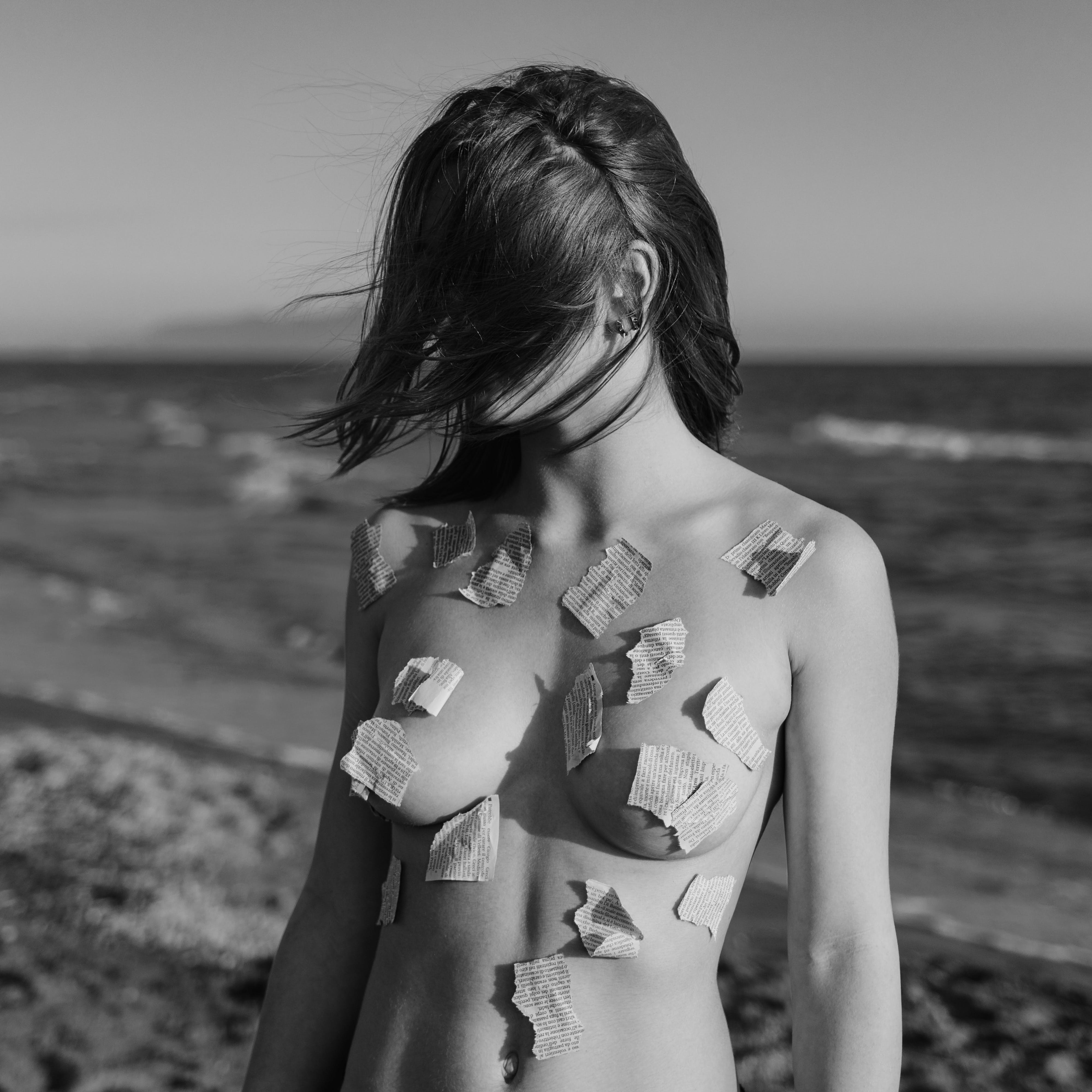 Grayscale Photography Of Topless Woman