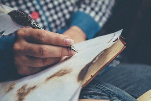 คลังภาพถ่ายฟรี ของ การเขียน, ปากกา, มือ, ส่วนประกอบ