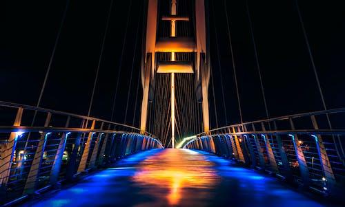 Lighted Suspension Bridge