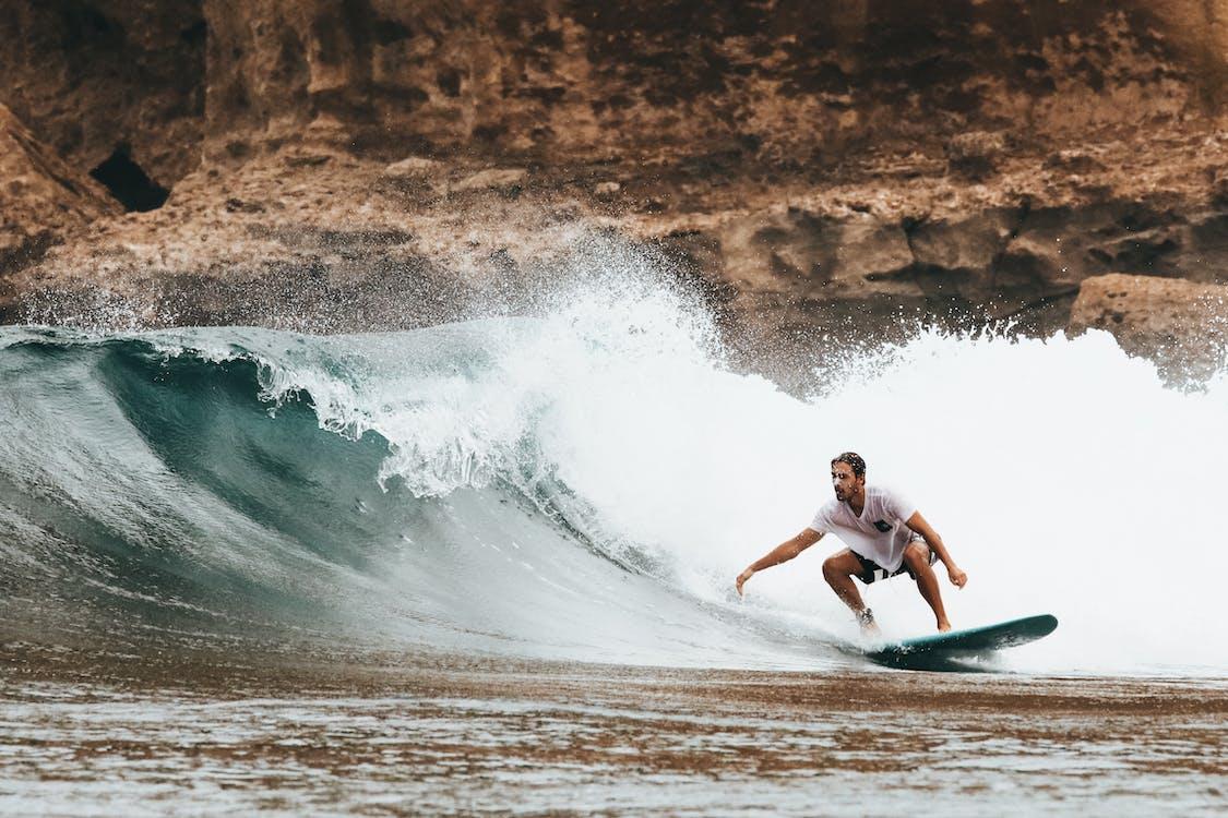 Férfi, hawaii, hullámok