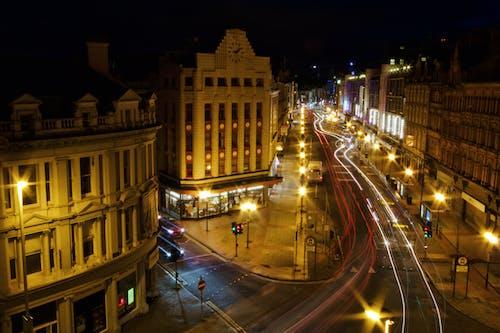 Free stock photo of County Antrim, night, Northern Ireland, roya avenue belfast