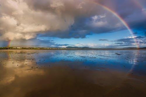 Free stock photo of beach, county sligo, ireland, rainbow
