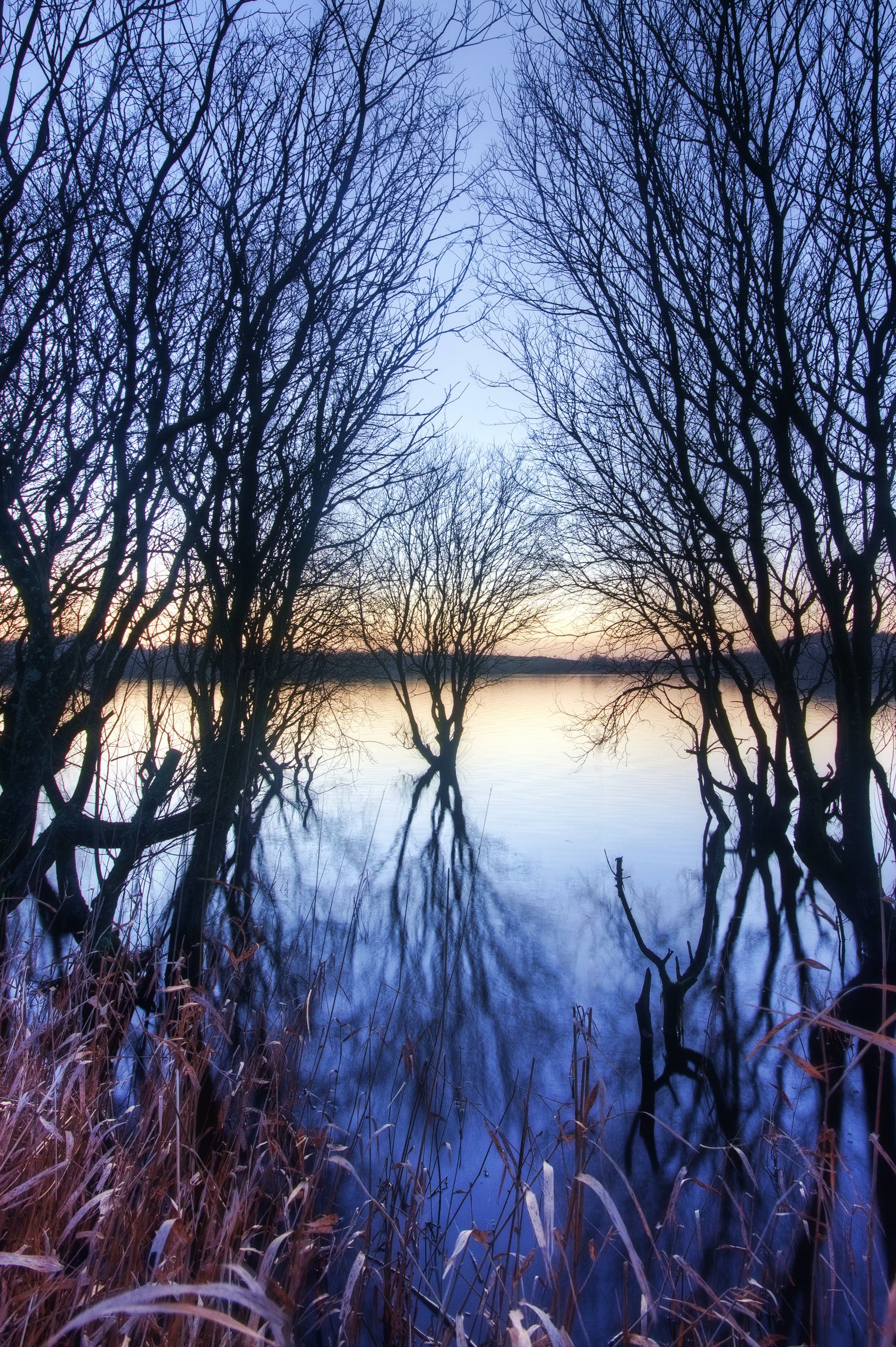 Foto profissional grátis de irlanda do norte, lisburn, pôr do sol, reflexão