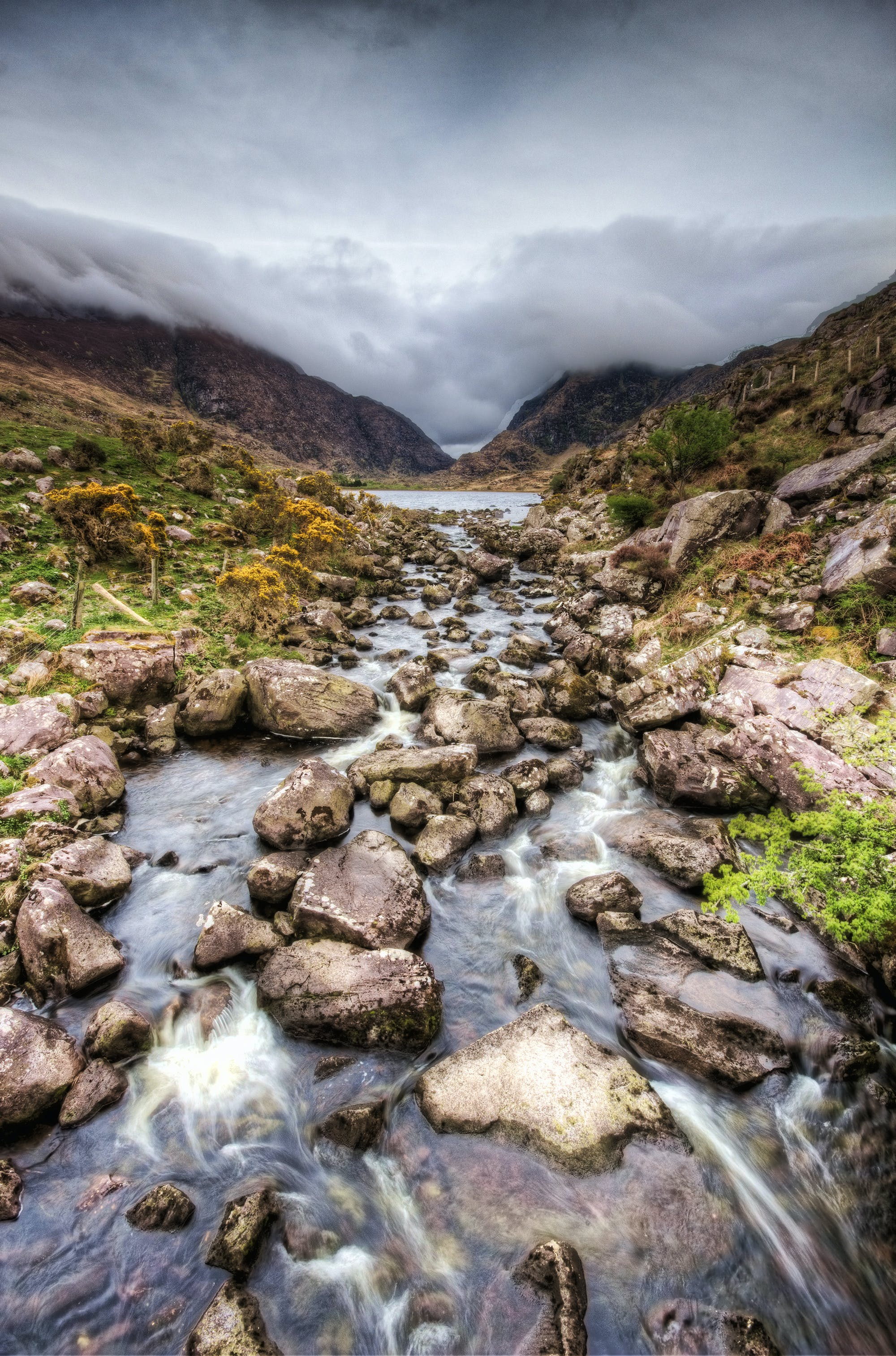 Photo of River Under Cloudy Sky