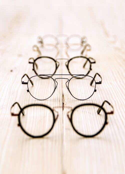 Foto stok gratis bingkai, kacamata, logam, resep
