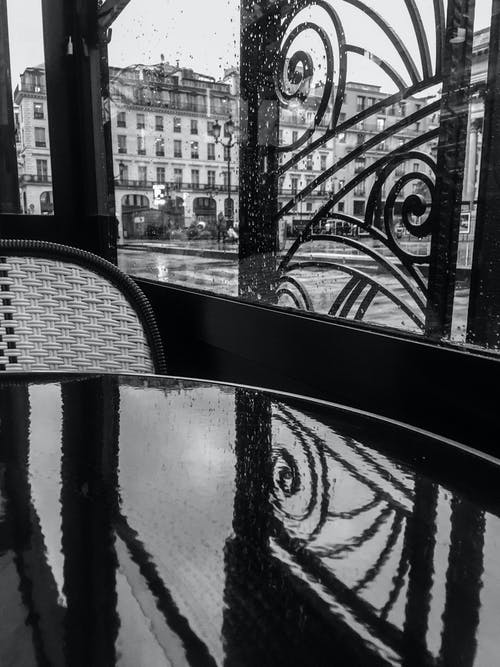 Free stock photo of bar, bar cafe, black and white, paris