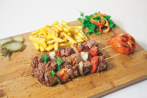 Brown Chopping Board With Barbeque
