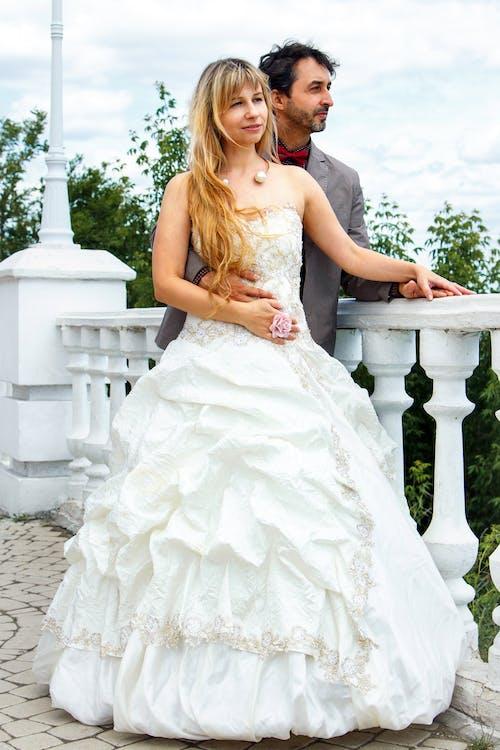 おとこ, ウェディングドレス, エレガント, カップルの無料の写真素材