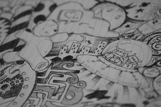 Free stock photo of art, creative, creativity, drawing