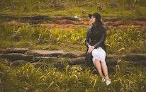 landscape, person, woman