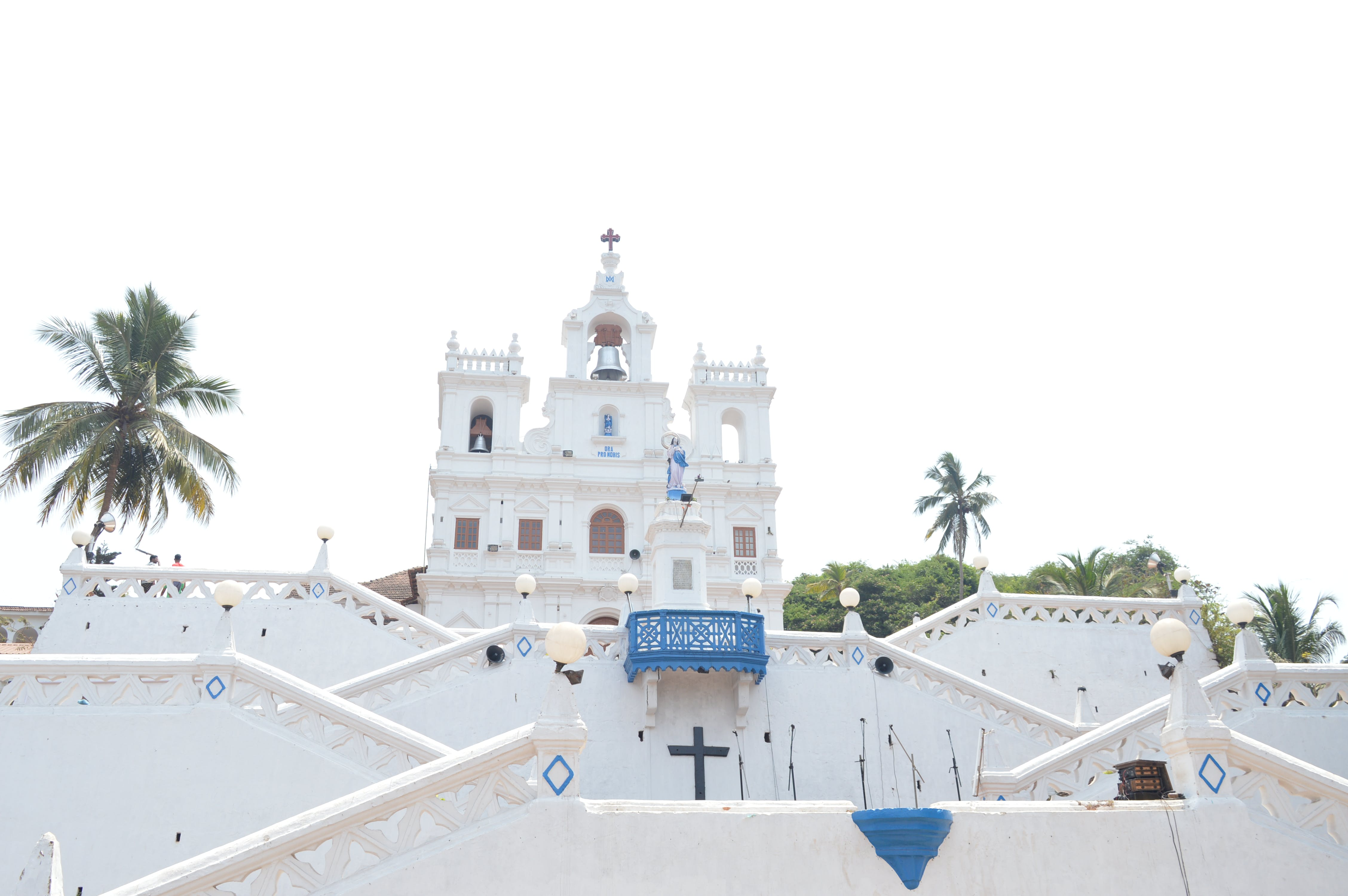 Free stock photo of church, goa, goa church, white church