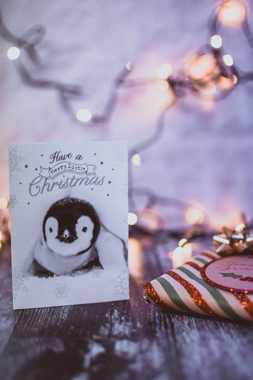 Christmas Greeting Card Near Gift